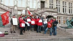 Aux côtés des syndicalistes Novembre 2012 : Avec le personnel de St-Gilles contre l'austérité