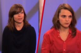 Gaëlle Smedts et Cécile Piret, deux candidates Gauches Communes au talk élections.