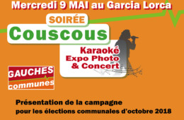 9 MAI GARCIA LORCA : Soirée Gauches Communes de lancement de la campagne électorale des communales